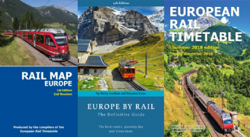 Summer 2018, Europe by Rail & Rail Map Europe BUNDLE